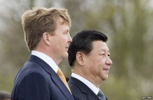 President of China Xi Jinping on arrival in The Netherlands for a state visit and attendance to the NSS in The Hague.