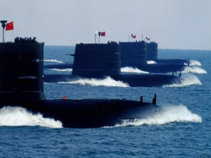 Chinese PLAN submarines on patrol. The Chinese are increasing their fleet of submarines, but at a price. United States analysts reported that the Chinese submarines make a lot of noise making them easier to track.