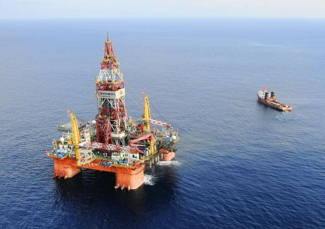 The disputed oil rig CNOOC 981 which is set up within the 200 nautical mile exclusive economic zone of Vietnam.