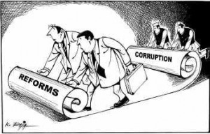 Corruption destroying Development